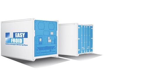 container frigorifique E12 4 palettes 12m³ location