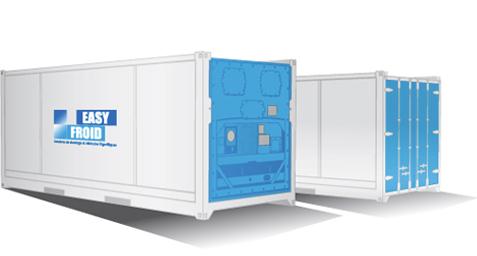 container frigorifique E28 10 palettes 28m³ location